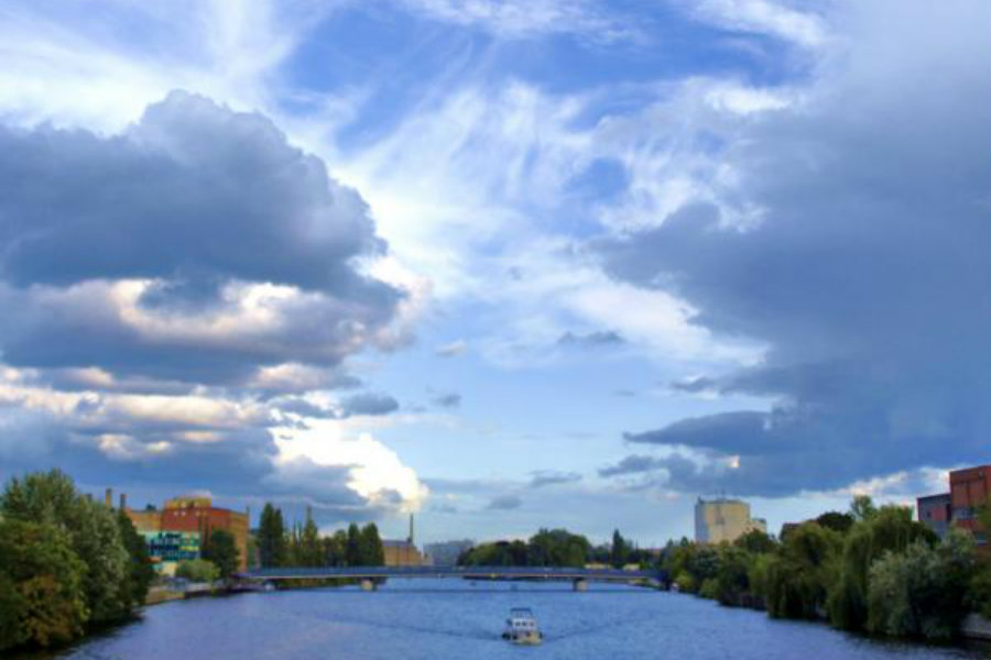 Spree: Vom Yachthafen Berlin Richtung-Schöneweide