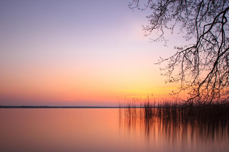 Seddinsee Sonnenuntergang Bootsanleger
